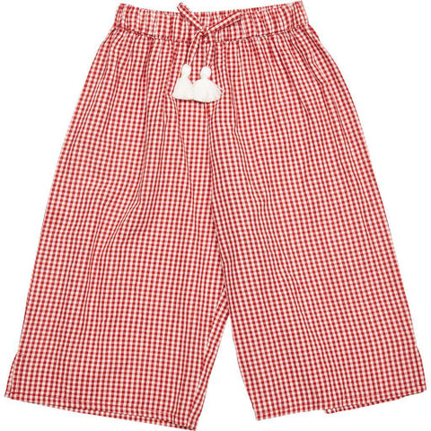 Pink Chicken Theodore Pant 2y red gingham - 19spc286b