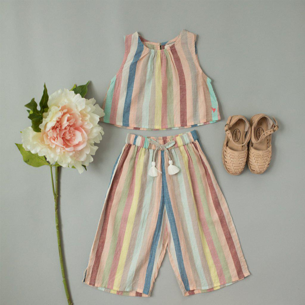 Pink Chicken Theodore Top 2y multi vintage stripe - 19spc287a