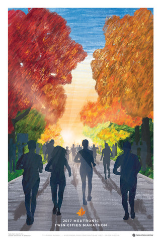 2017 Medtronic Twin Cities Marathon Weekend Poster
