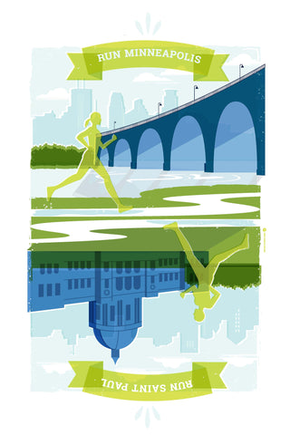 Run Minneapolis / Run Saint Paul poster