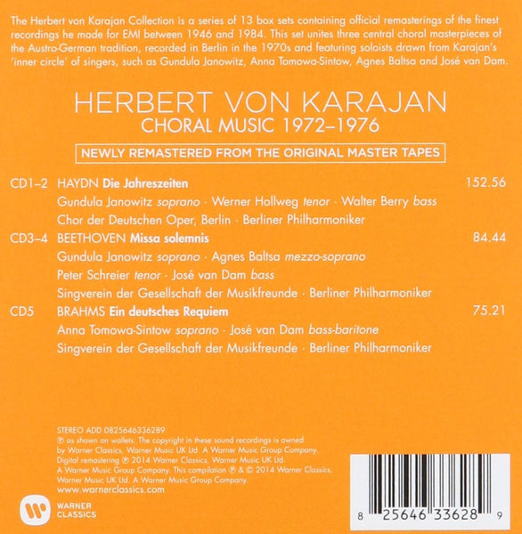 Herbert von Karajan: Choral & Vocal Recordings Nov 1972 - Oct 1976 (5 CDs)
