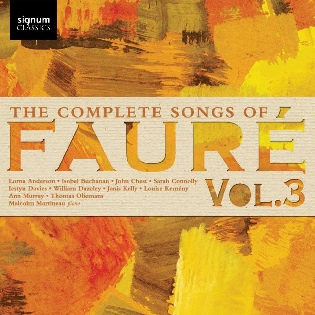 Complete Songs of Faure, Volume 3