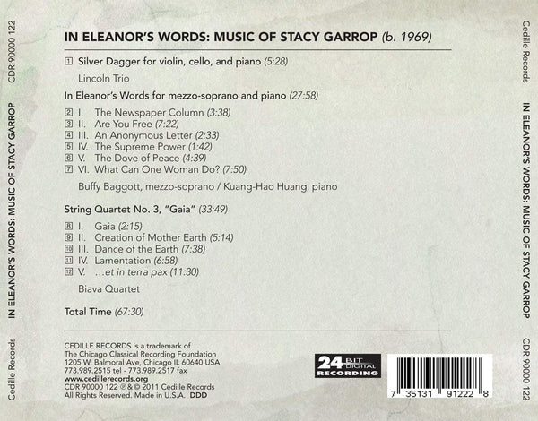 IN ELEANOR'S WORDS: MUSIC OF S: LINCOLN TRIO; BAGGOTT; HUANG; BIAVA QUARTET