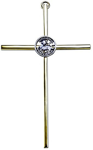 Gold Reconciliation Cross - The Paschal Lamb