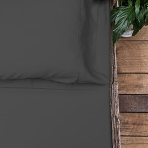 Organic Bamboo Bed Sheet Set - Charcoal