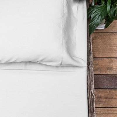 Organic Bamboo Bed Sheet Set - White