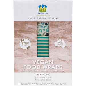 THE FAMILY HUB ORGANICS Vegan Food Wraps - Starter Set x 2 wraps