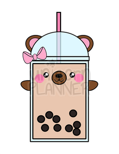 Boba Bear with Bow Printable (DIGITAL DOWNLOAD)