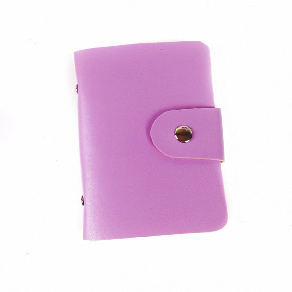 Lavender washi tape wallet with silver button snap