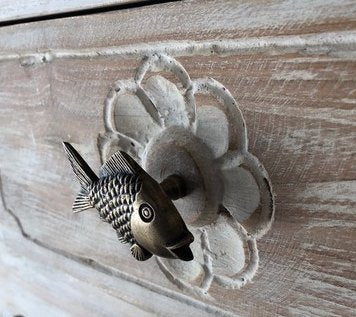 Solid Brass Door Knobs Set Of 4 - Fish