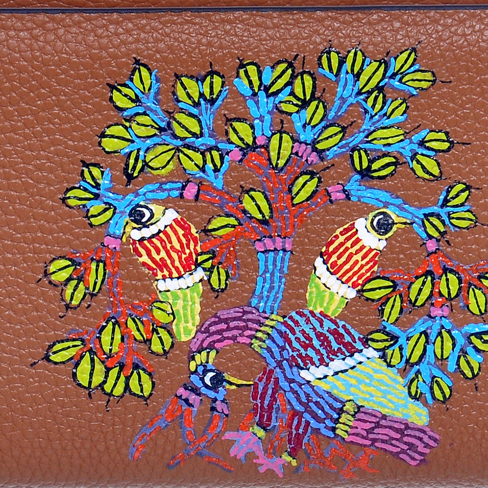 Peacocks Melody, Tan Leather Wallet