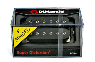 DiMarzio DP100 Super Distortion F-Spaced Humbucker Guitar Pickup - Black