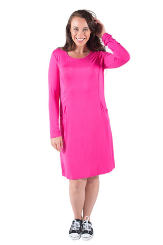 ABBY BREASTFEEDING DRESS LONG SLEEVE - CLEARANCE