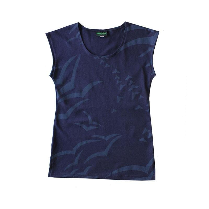 Classic Dragstar Printed Tee - Gulls ethical womens fashion made in Sydney
