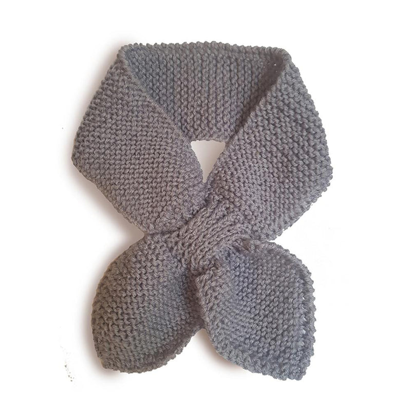 Hand Knitted Neck Warmer - light grey