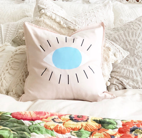 All Knowing Evil Eye Pillow Cover