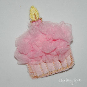 Birthday Cupcake Hair Clip