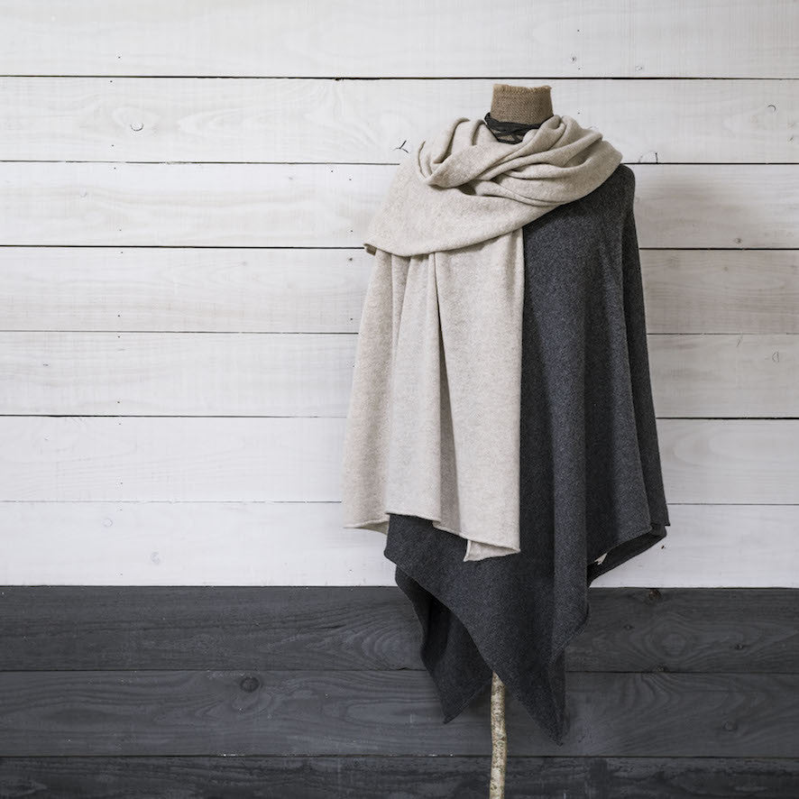 Loro Piana Cashmere Voyager Wrap - Salcombe Sand