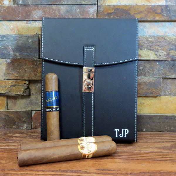 Personalized Black Cigar Humidor