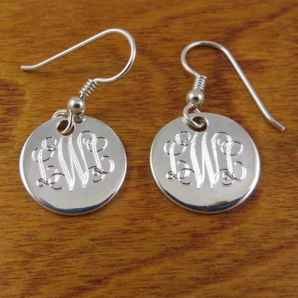 Monogrammed Earrings