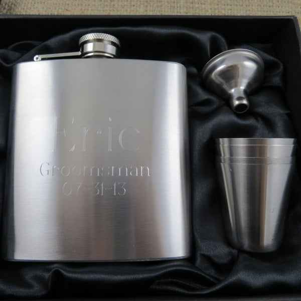 Personalized Flask with Shot and Funnell Gift Set