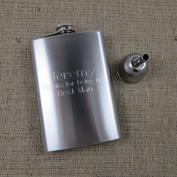 Personalized 8oz Flask with Funnel