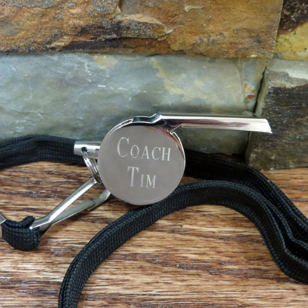 Personalized Coach Whistle w/ Lanyard
