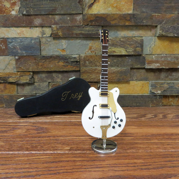 Miniature White Electric Guitar w/ Personalized Case