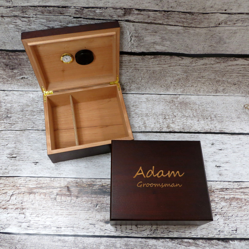 Personalized Cedar Cigar Humidor