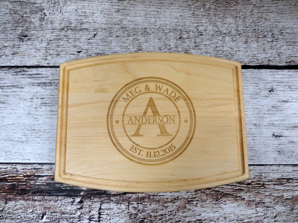 Personalized Family Name Cutting Board