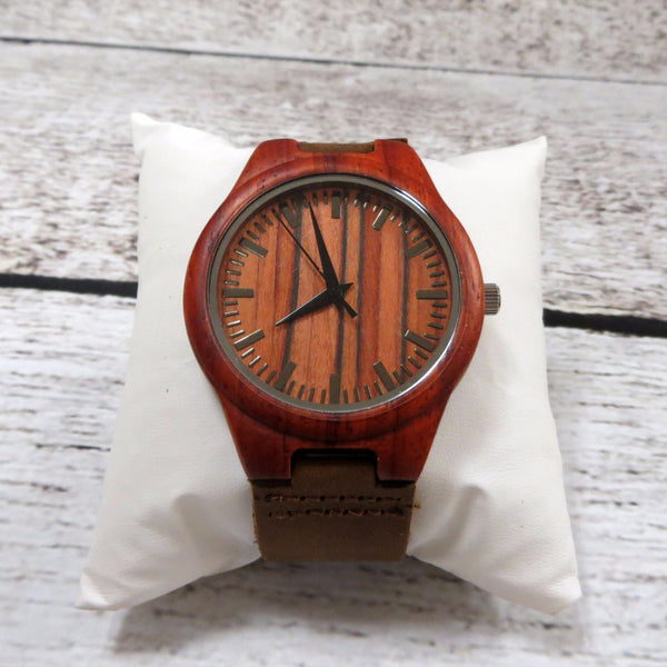 Rosewood Wrist Watch Personalized
