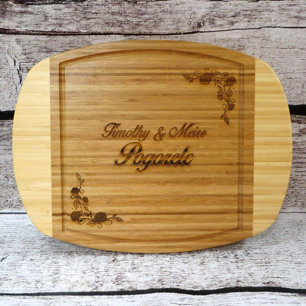 Two Toned Bamboo Cutting Board