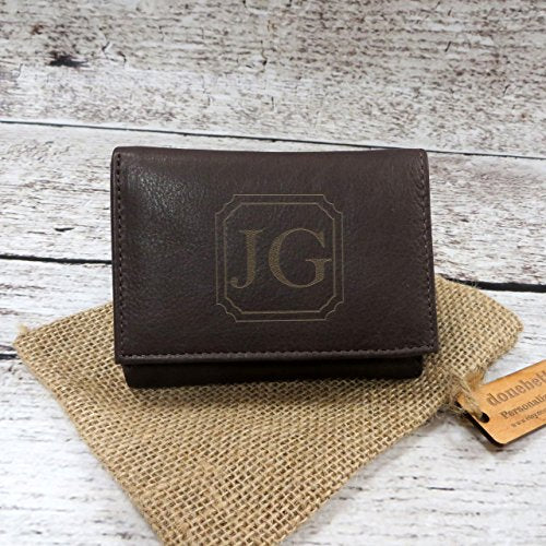 Tri Fold Personalized Mans Wallet