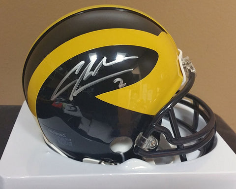 Charles Woodson Michigan Wolverines Signed Mini Helmet