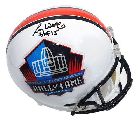 Ron Wolf Green Bay Packers Hall of Fame Signed Mini Helmet with HOF 15 Inscription