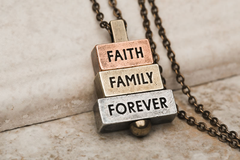 Faith Family Forever 212 West Personalized Necklaces and Pendants