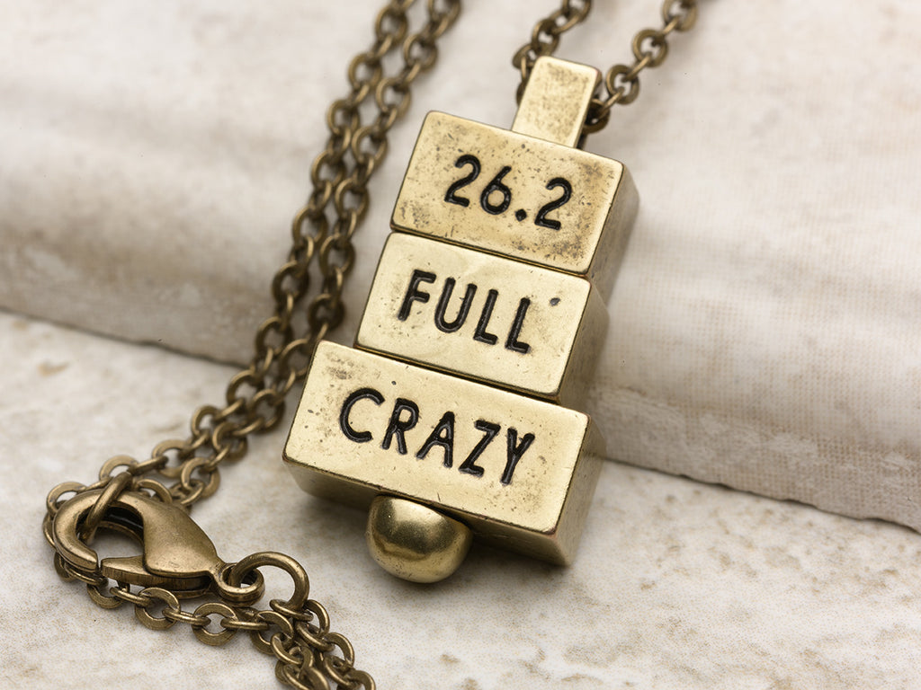 """26.2 Full Crazy"" - 212 west runners collection personalized marathon necklaces"