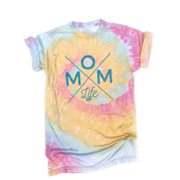 Tie Dye Burnout Mom Life Tee [ships in 2-4 business days]