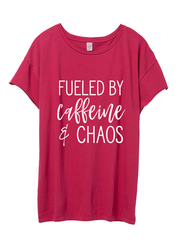 Pink Fueled by Caffeine & Chaos Tee