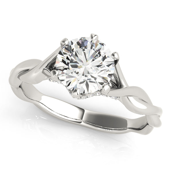 Cross-Over Style Engagement Mounting with Interior Diamond Detail