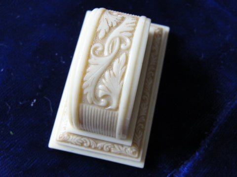 Antique Ring Box Wedding Engagement Vintage Display Ringbox Ivory Celluloid Jewelry Presentation Art Deco Vintage Wedding