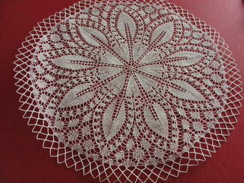 FINEST Vintage Hand Knitted LACE Doily Intricate Workmanship Fit To Be Framed Beautiful Addition To Lace Doilies Collection