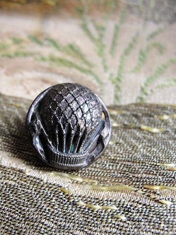 Antique Figural Metal Victorian Fancy Button HOT AIR BALLOON Highly Detailed Design Lovely Collectible For Button Collector