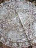 AMAZING Antique French Normandy Lace Pillow Sham Gorgeous Lace Hand White Work Embroidery, Large Lace Boudoir Pillow Case, Chateau Decor