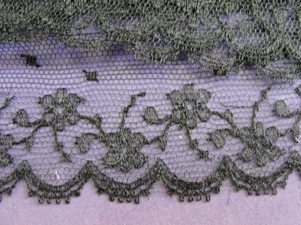 Antique French CHANTILLY Lace Trim Yardage Never Used Delicate Intricate Pattern Ideal For  Fine Projects, Dolls Heirloom Sewing