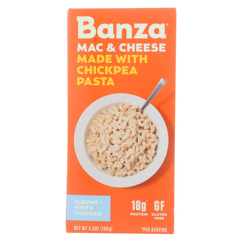 Banza - Chickpea Pasta Mac And Cheese - White Cheddar - Case Of 6 - 5.5 Oz.