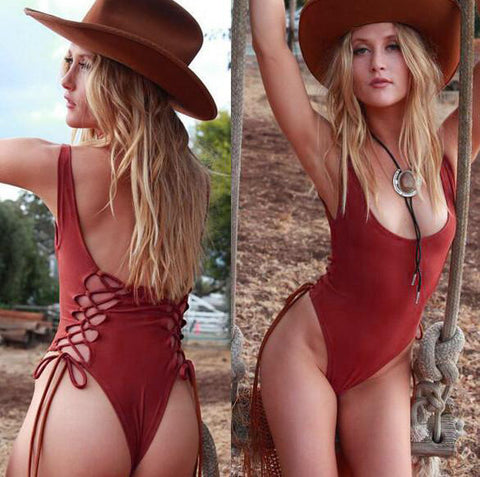 Sexy Backless Bandage One Piece Swimwear