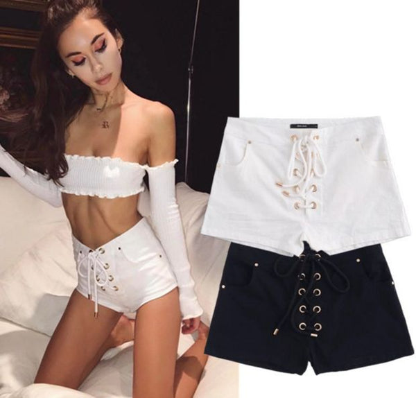 Women'S Summer New Cross Strap Sexy Shorts
