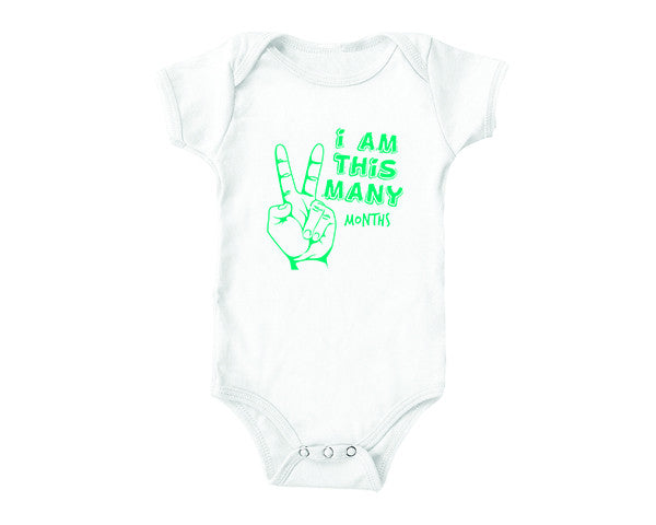 I am this Many Months (baby onesies)