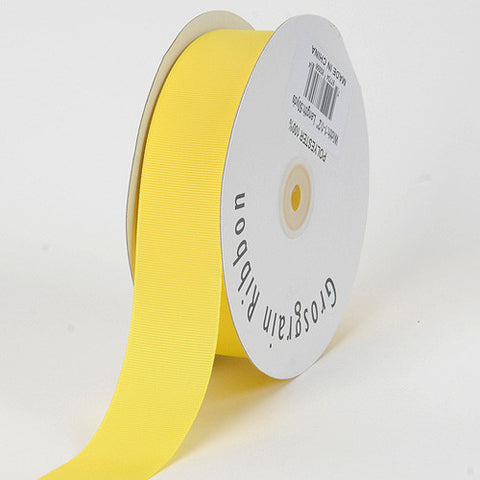 Grosgrain Ribbon Solid Color Canary ( W: 7/8 inch | L: 50 Yards ) -